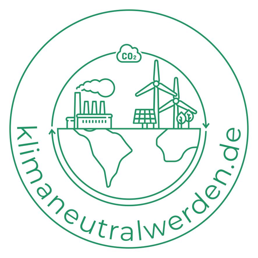 Das Unternehmenslogo von klimaneutralwerden.de