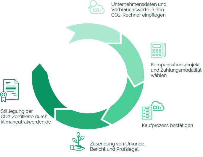 Wie wird ein Unternehmen CO2 neutral am Beispiel des Klimaneutralitäts-Zyklus