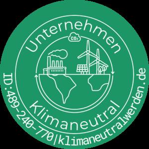 Prüfsiegel Klimaneutrales Unternehmen