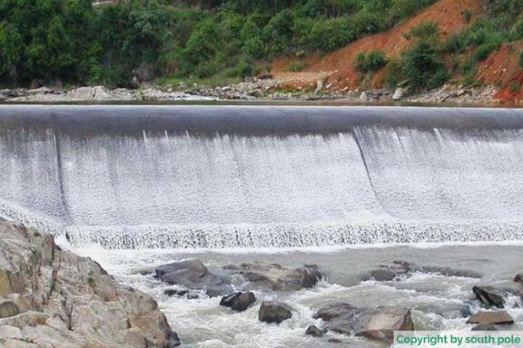 Der Fluss Musi in Sumatra